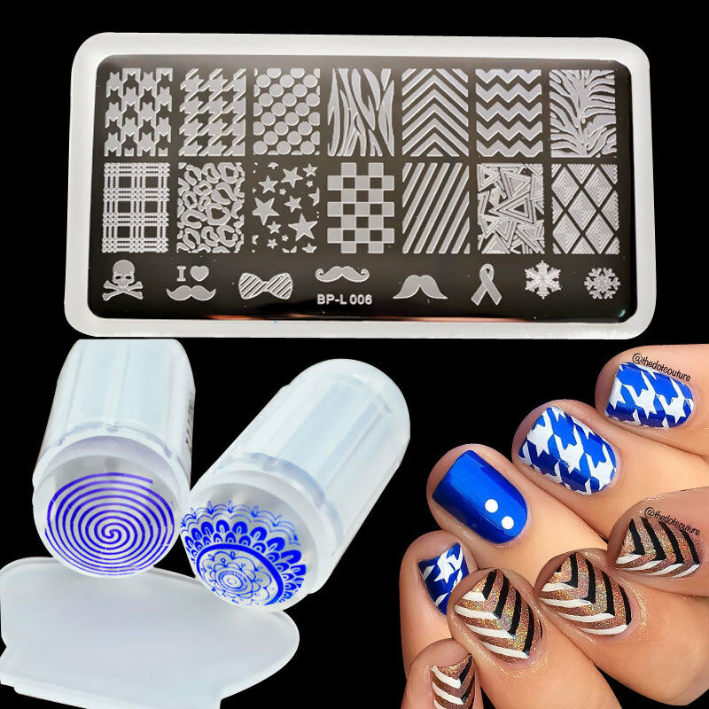 Nail Art Kit With Stamping: Born Pretty Nail Stamping Plate Image Polish Stamp Plate