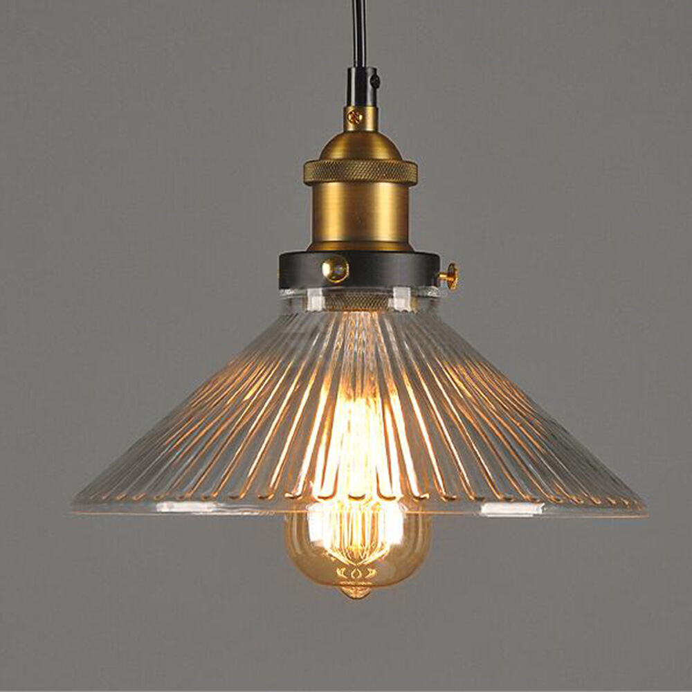 Hanging Light Fixture: New Vintage Glass Lamp Chandelier Antique Ceiling Pendant