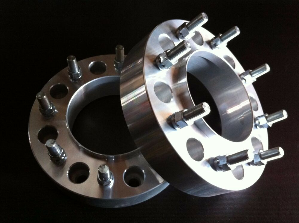 """Dually Wheel Spacers >> 2 Ford F250 F350 Superduty Hub Centric Wheel Spacers 2"""" 8x170 14mm x 1.5 studs 