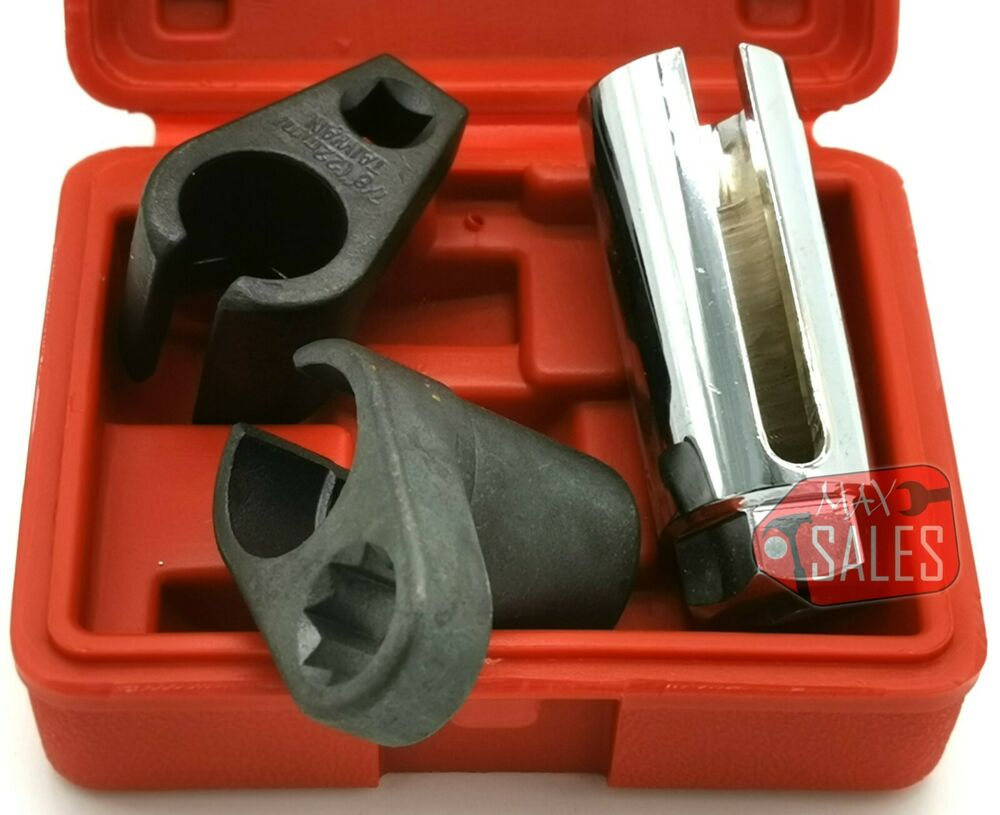 3pc Oxygen Sensor Socket Wrench O2 Tool Remover/Installer