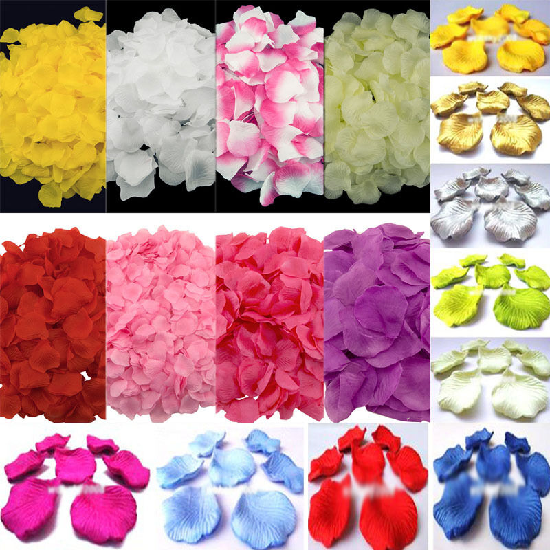 flower petals for wedding 1000pcs various colors silk flower petals wedding 4198