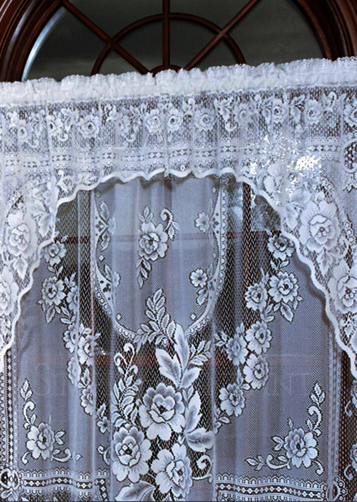 Romantic Victorian Rose Insert Valance By Heritage Lace