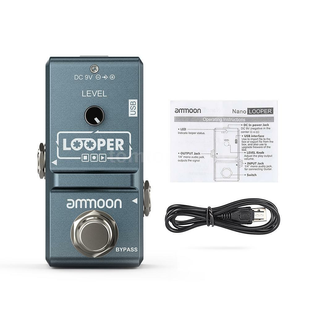 ammoon loop electric guitar effect pedal looper true bypass 10min recording n1w1 ebay. Black Bedroom Furniture Sets. Home Design Ideas