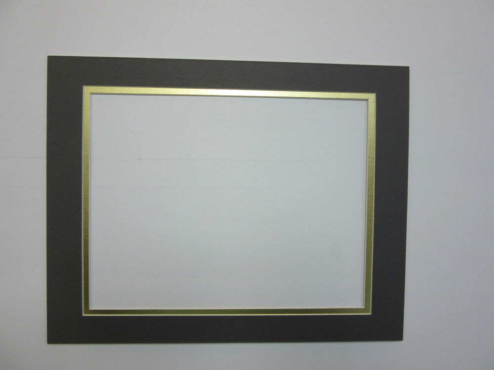 Picture Mat 11x14 For 8 5x11 Diploma Or Document Dark Gray