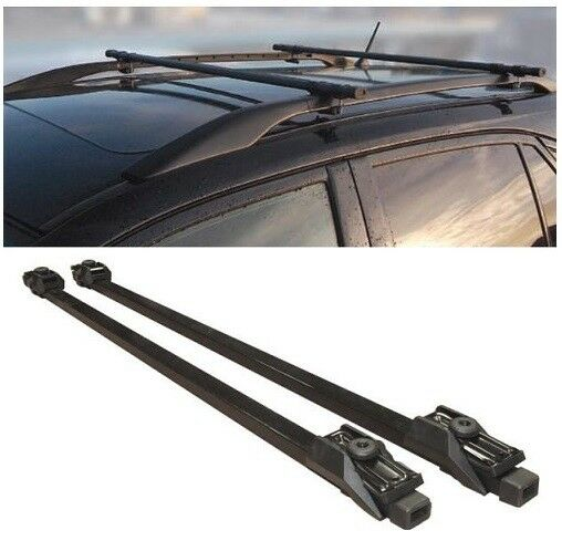 Car Roof Bars Universal Fit For Cars With Rails Rack