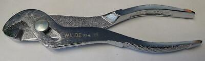 Wilde Tool 6N Knurled Polished Angle Nose Slip Joint Pliers 6