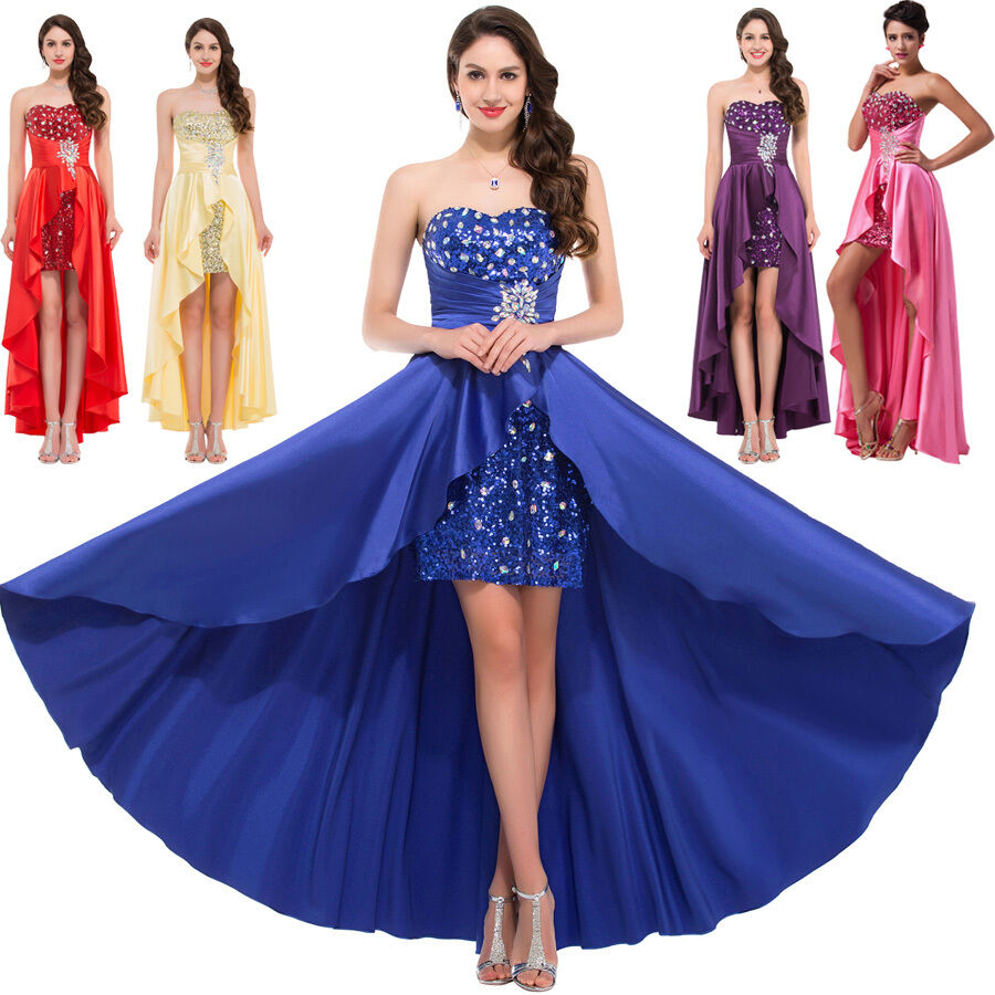 Birthday Dress For Womens: Womens High-Low Masquerade Ball Gown COCKTAIL Dresses