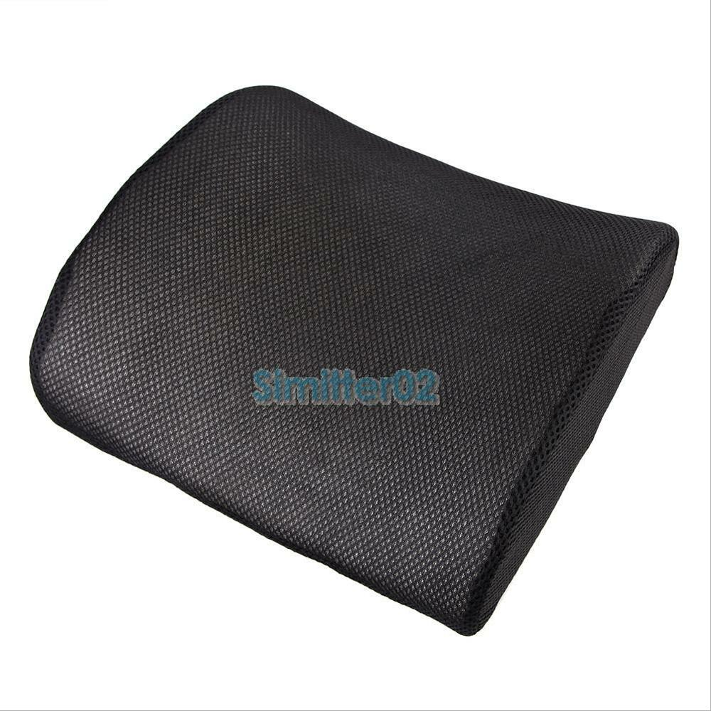 memory foam lumbar back support cushion pillow for home car auto seat chair new ebay. Black Bedroom Furniture Sets. Home Design Ideas