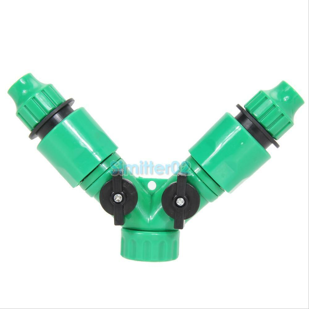 Drip irrigation hose pipe way splitter quick connector y