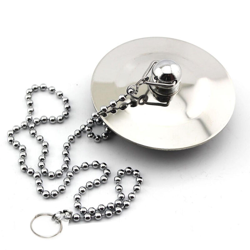 Chrome Plated Drain Plug Stopper Amp Chain For Kitchen