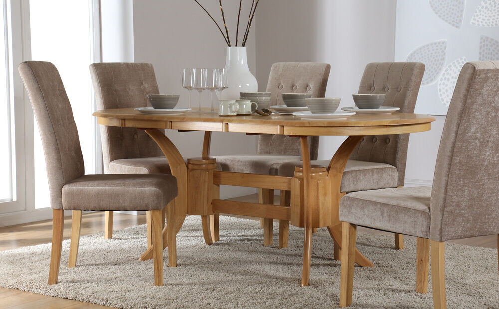 Townhouse Regent Extending Oak Dining Room Table And 4 6 Chairs Set Mi