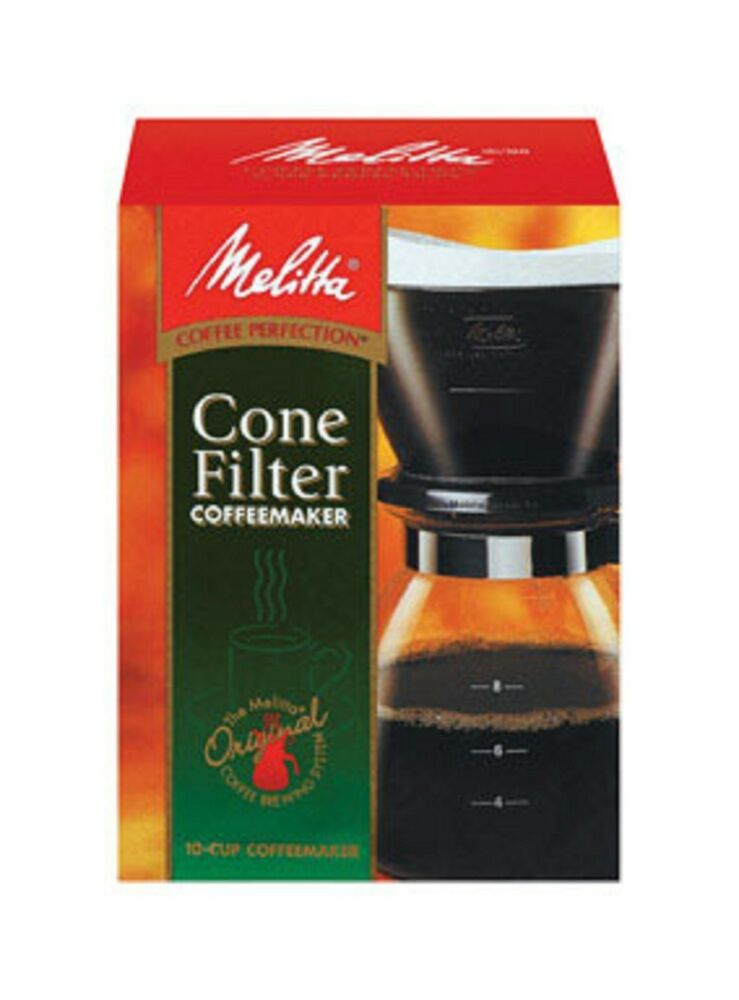 Coffee Makers That Use Cone Filters : Melitta Manual 6-Cup Cone Filter Coffee Maker CM-6/4 55437640619 eBay
