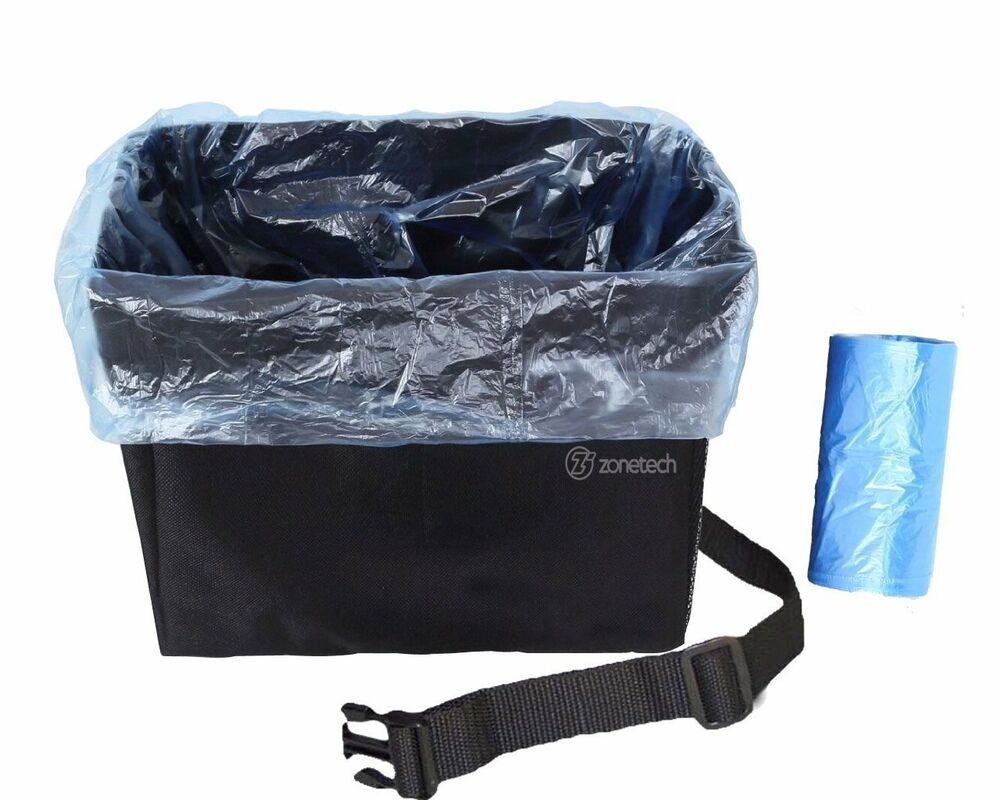 Zone Tech Car Garbage Can Best Auto Trash Bag For Litter
