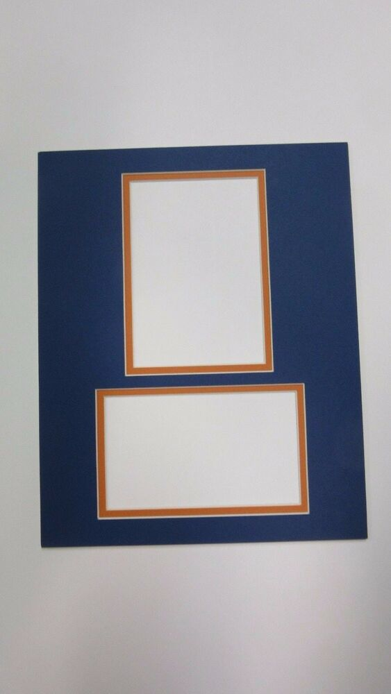 Picture Framing Mat Mets Blue Orange 8x10 For 3 5x5