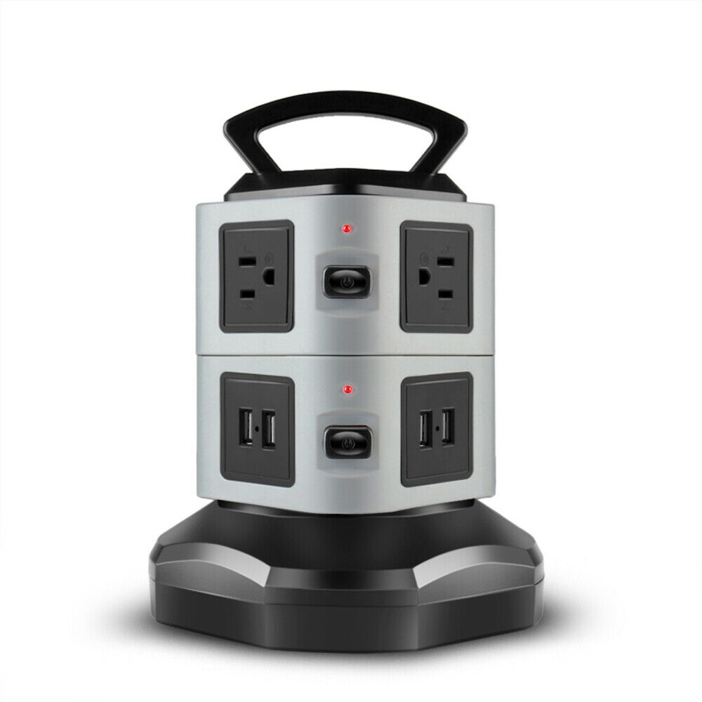 power strip with usb surge protector 6 outlet 4 usb port charger charging tower 817211095882 ebay. Black Bedroom Furniture Sets. Home Design Ideas