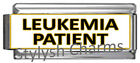 LEUKEMIA PATIENT MEDICAL ALERT ID Italian Charm 9mm x1 ME205 Single SuperLink