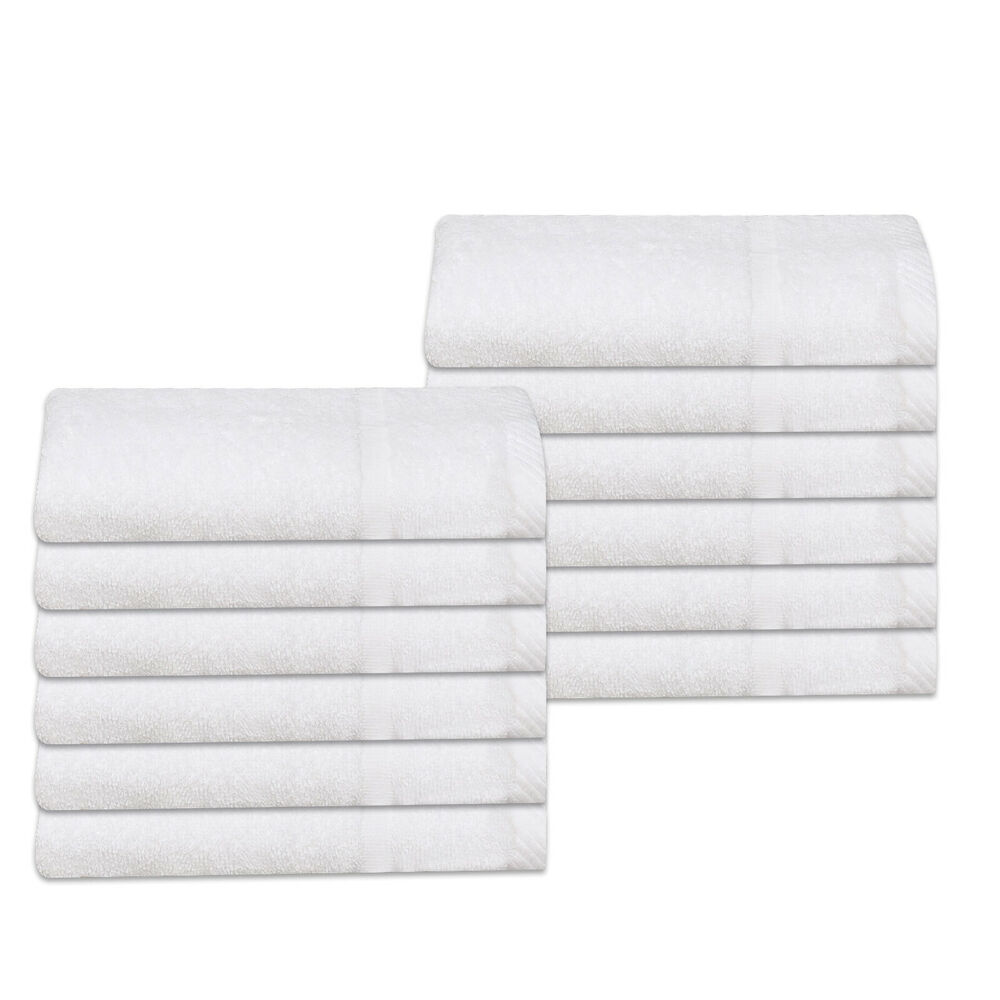 Cheap Hand Towels White Budget Quality 100% Cotton 320 Gsm