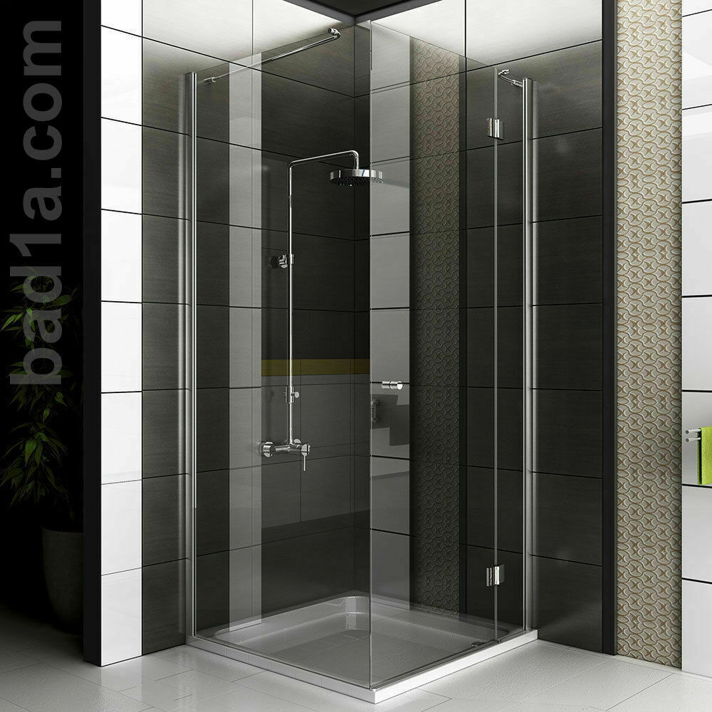 duschkabine eckdusche eckeinstieg duschabtrennung glas dusche duschwand esg nano ebay. Black Bedroom Furniture Sets. Home Design Ideas