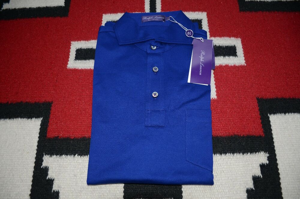 Ralph lauren purple label made in italy 100 cotton mesh for Shirts made in italy