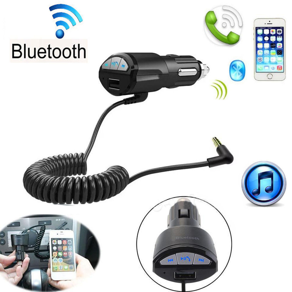 A2DP/3.5mm Handsfree Bluetooth Car AUX Stereo Audio