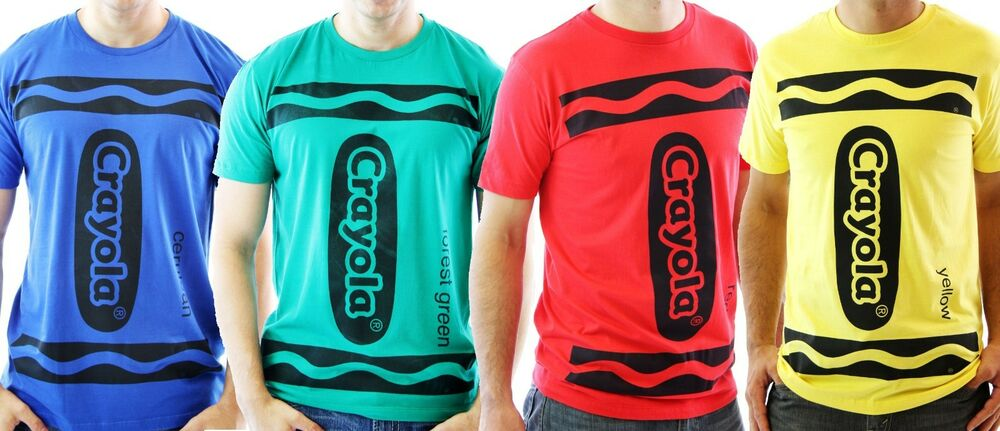 96ce1663 CHOOSE COLOR: Adult Art Crayola Crayon Red Green Blue Yellow Costume T-Shirt  Tee | eBay