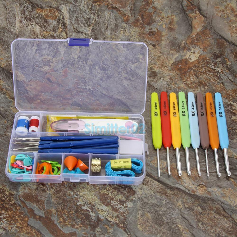 16 sizes diy crochet hook needles stitches knitting craft for S hooks for crafts