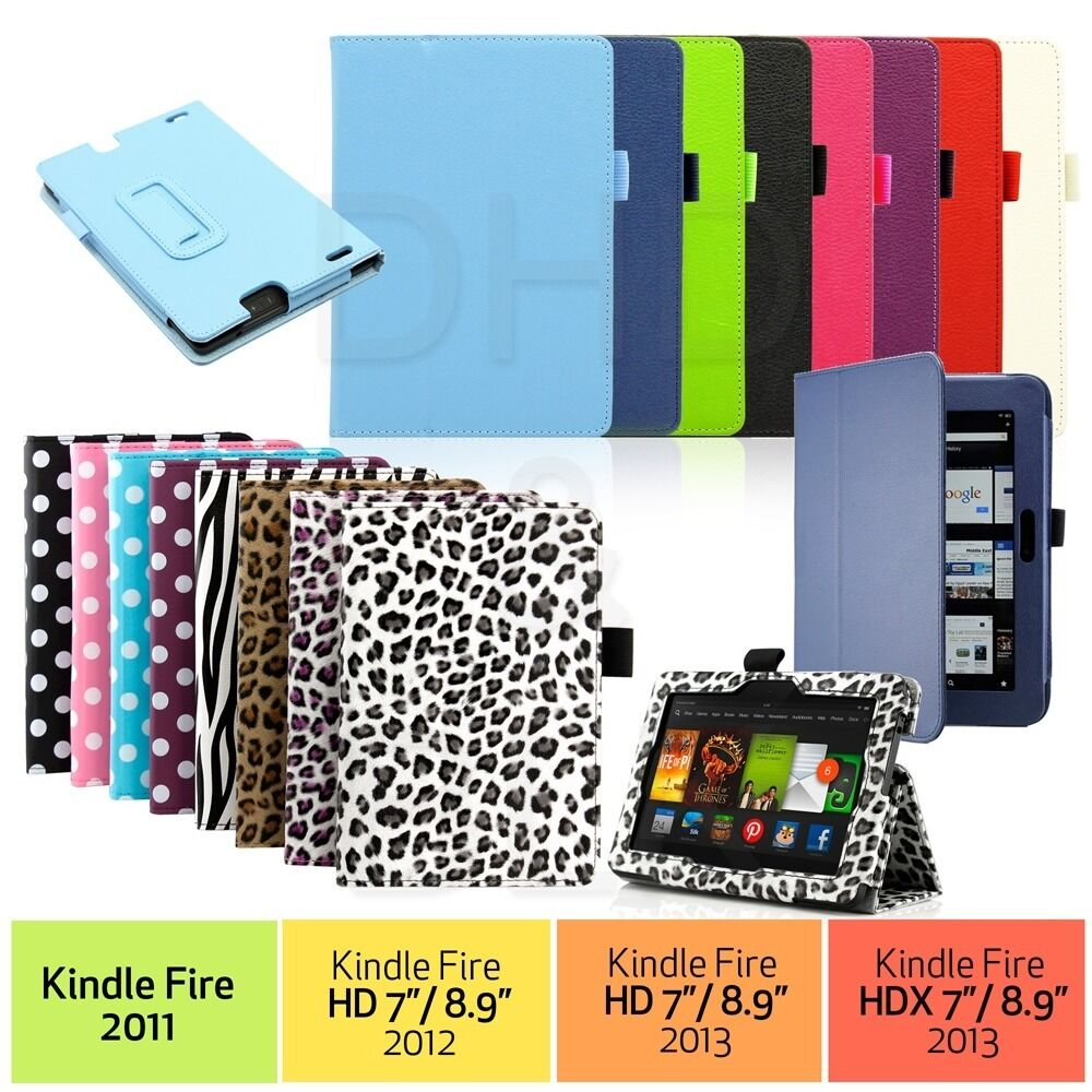 Pu leather folio case cover stand for amazon kindle fire for Amazon casa
