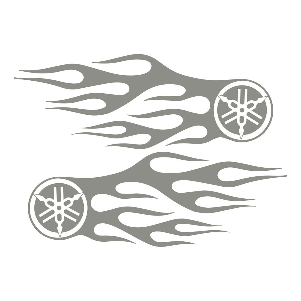 Bike chopper gas tank flames tribal vinyl decal sticker yamaha logo flame 13 ebay