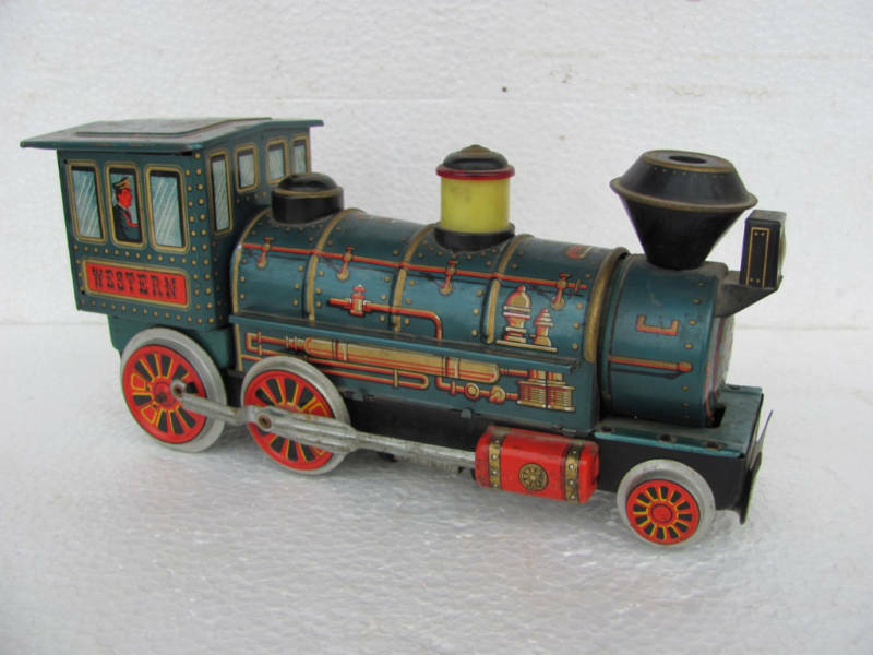 Battery Operated Ride On Toys >> Old Battery Operated Train Engine Toy Japan | eBay