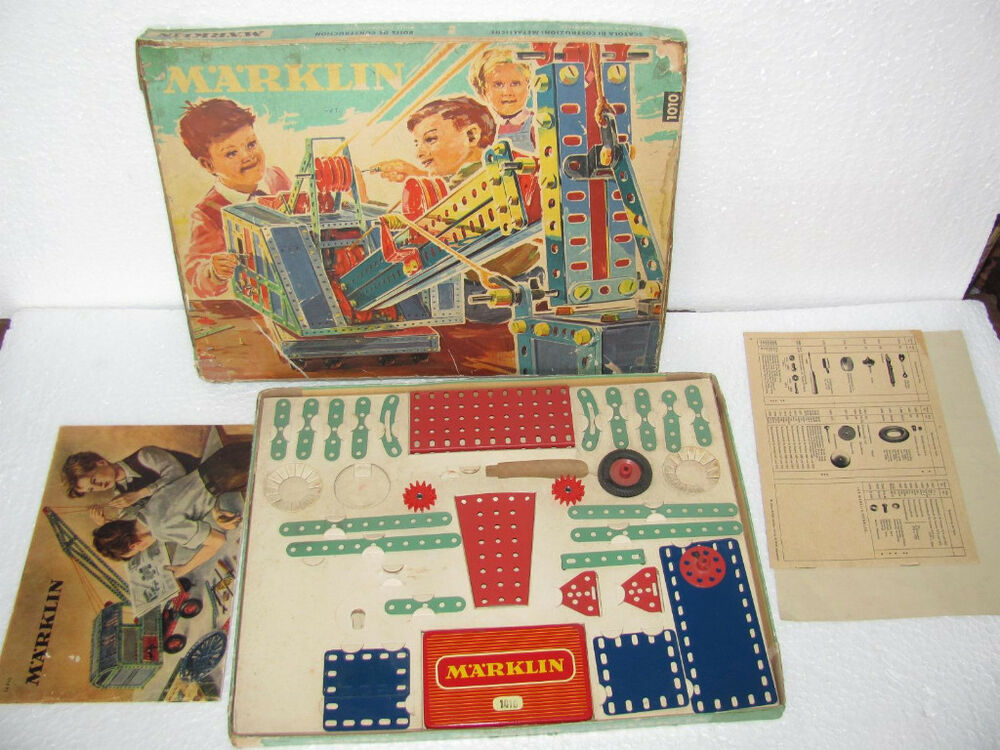 Germany Building Toys For Boys : Vintage boxed marklin metal building set toy germany ebay