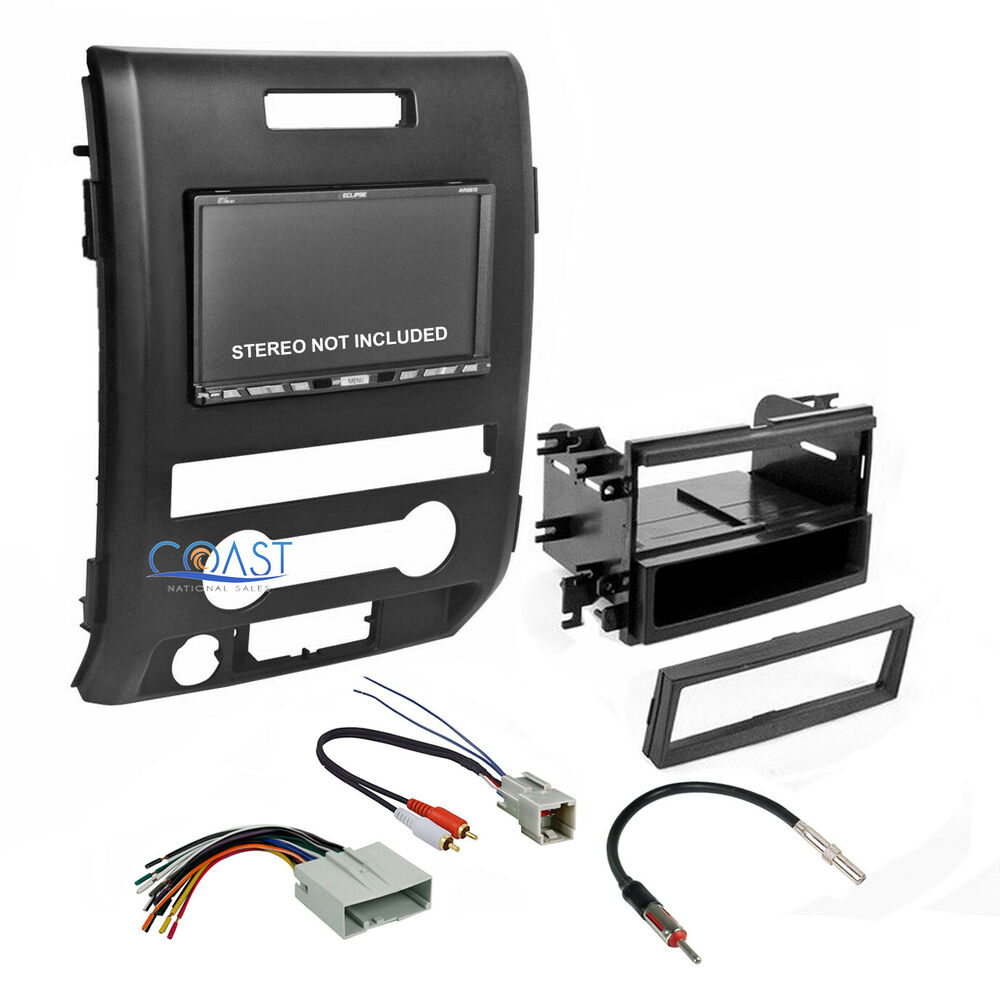 Car Radio Stereo Double Din Dash Kit Harness Antenna For 2009