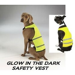 DOG REFLECTIVE Safety Hunting Hiking Walking EASY ON/OFF VEST Coat*YELLOW*XS-SM