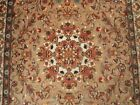 FLOWRAL MEDALLION HAND KNOTTED RUG WOOL SILK CARPET 6X4