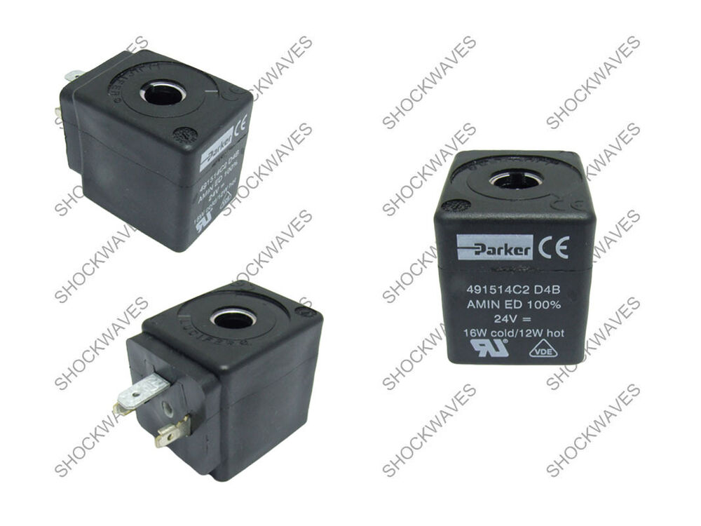 parker solenoid coil 24v dc 439520 491514c2 d400 24vdc ebay. Black Bedroom Furniture Sets. Home Design Ideas