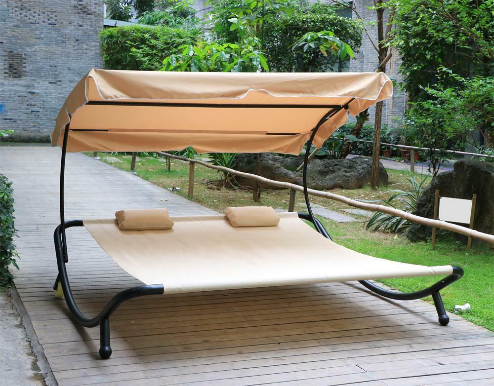 Heavy Duty Garden Outdoor Patio Double Sun Lounger Day Bed