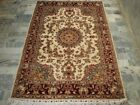 SARAFIAN FLOWRAL HAND KNOTTED RUG WOOL SILK CARPET 6X4