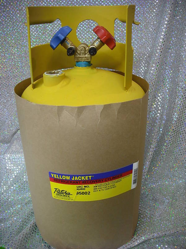 Recovery Tank 30 Lb Good For R410 Dual Valve New Ebay