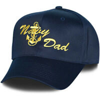 NAVY DAD WITH ANCHOR EMBROIDERED MILITARY  HAT CAP