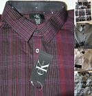 *NWT* Men's Calvin Klein Lifestyle-Button-Up Long Sleeve-Dress Shirt-Spread