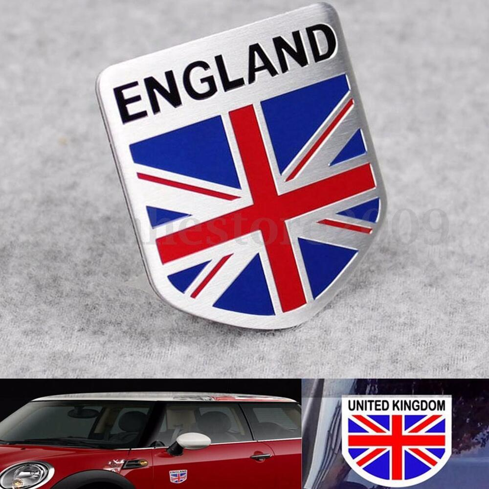 Car 3d Gb England Uk Flag Union Jack Shield Emblem Badge