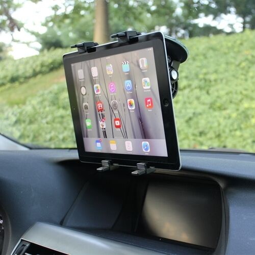 Car Mount Windshield Glass Tablet Holder Stand Dock Cradle