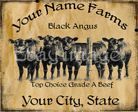Black Angus Farm Label      Customized For You.