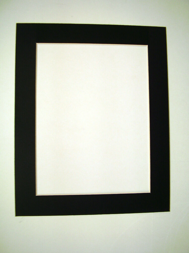 Picture Framing Mats 8x10 For 6x9 Photo Black Rectangle