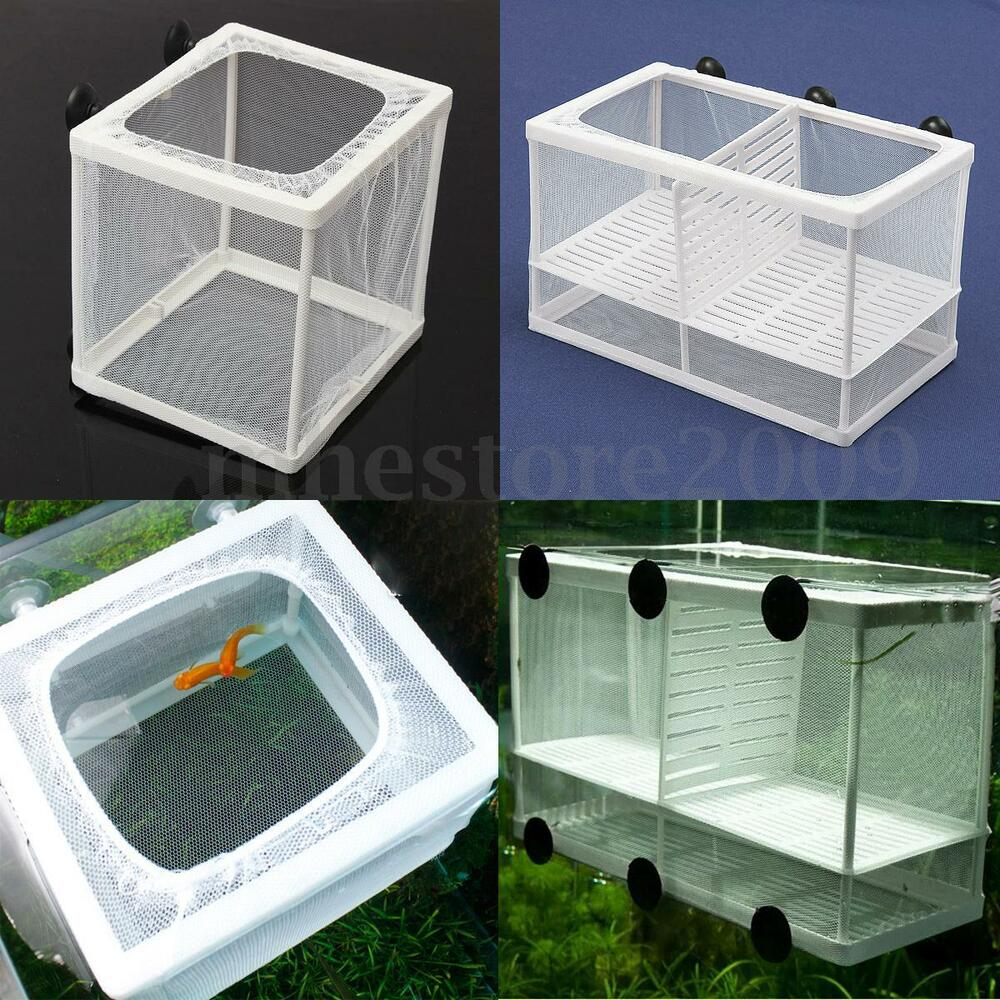 White net breeder aquarium tank baby fish shrimp tank for Fish tank net