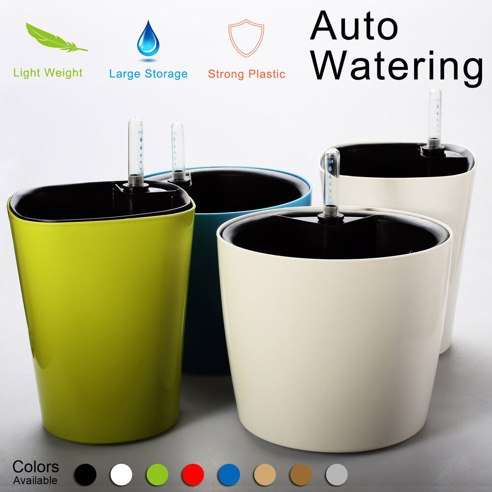 Self Watering Planter Flower Pot Water Storage Level