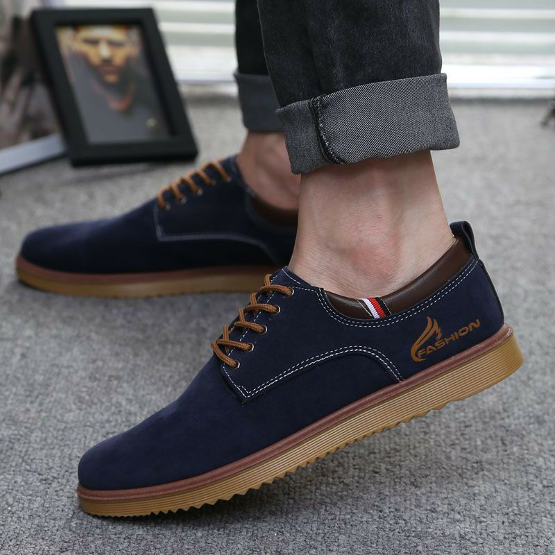Men 39 S Suede Leather Shoes Oxfords Suede Casual Sneakers Fashion European Style Ebay
