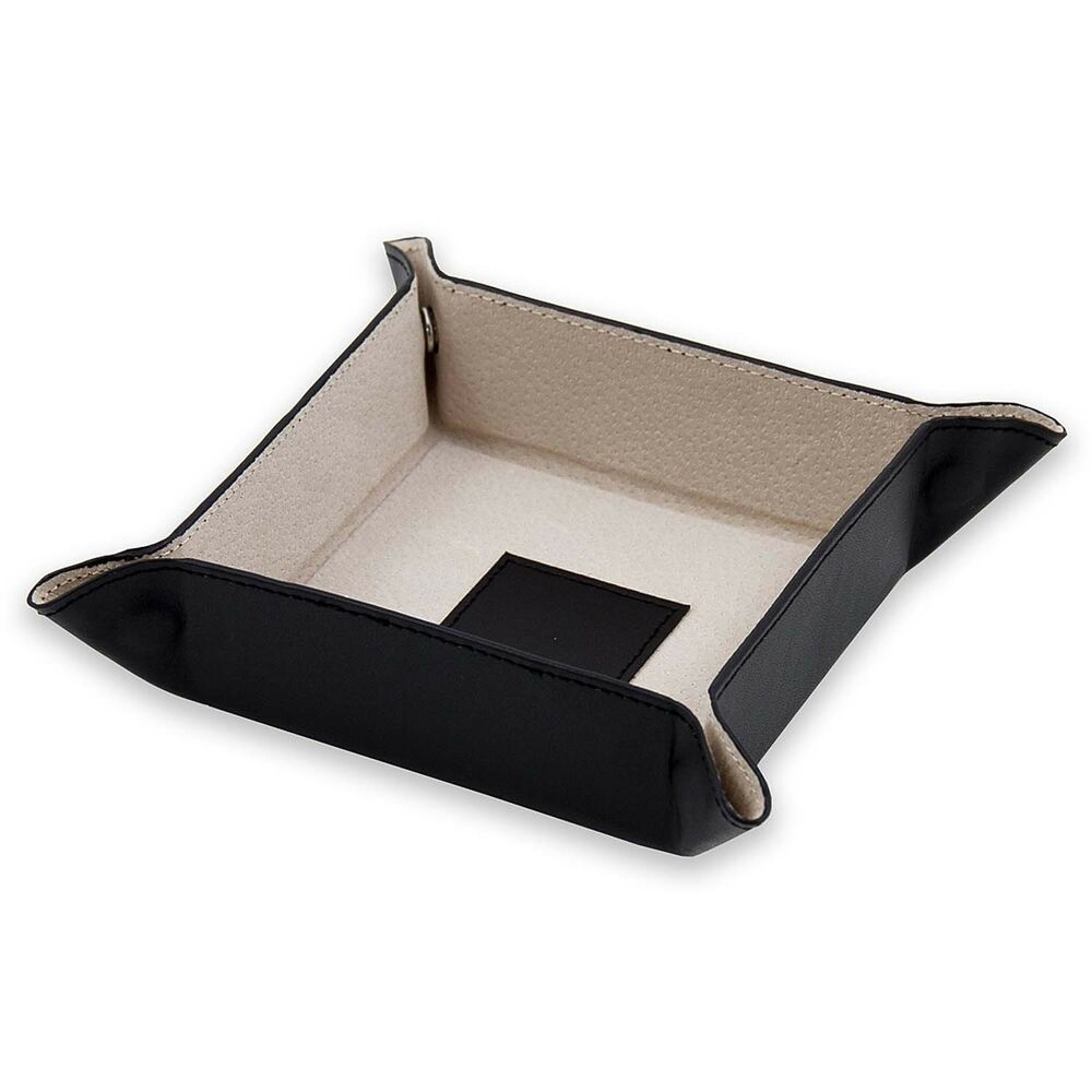 Mens gifts leather valet change tray your choice of for Men s valet box
