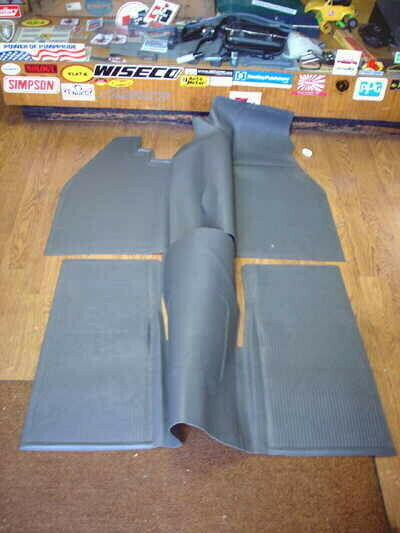 vw type 1 bug 1960 1967 sedan interior rubber floor mat set in grey ebay. Black Bedroom Furniture Sets. Home Design Ideas