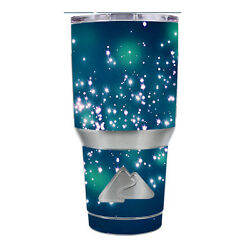 Skin Decal for Ozark Trail 30 oz Tumbler Cup (6-piece kit) / Firefly Night