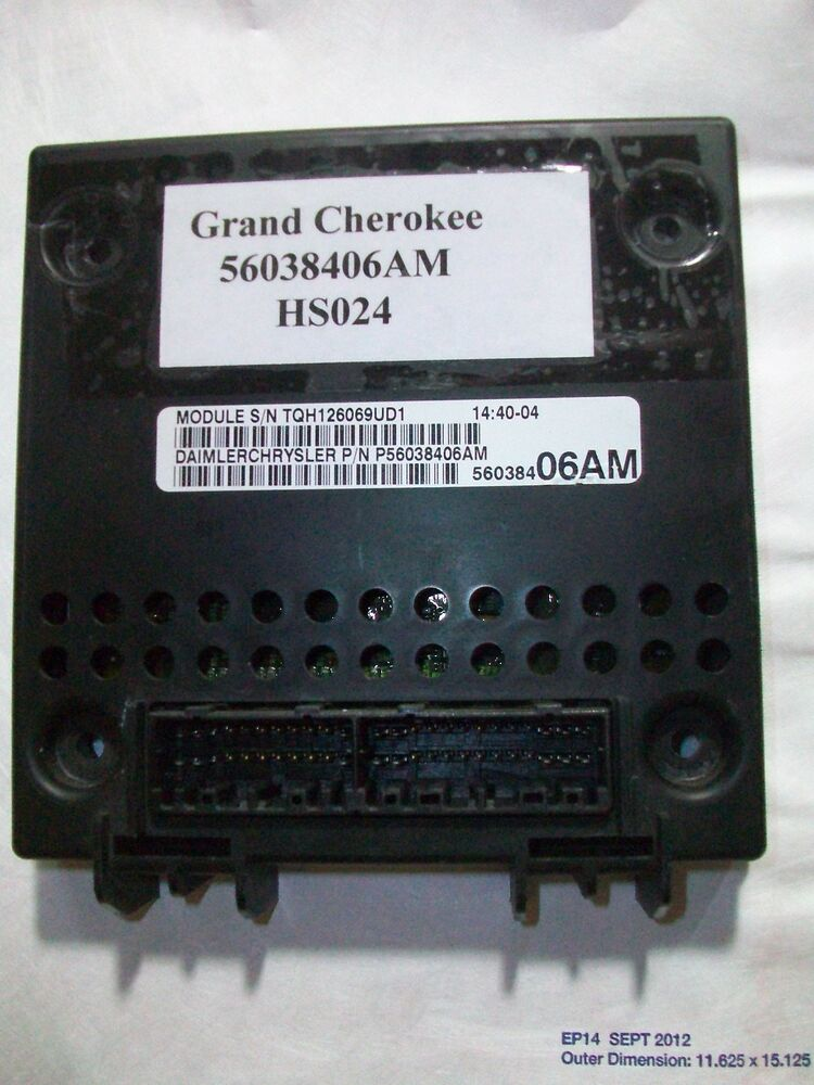 Tested 2000 Jeep Grand Cherokee Bcm Module Body Control